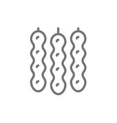 Churchkhela georgian sweets line icon vector
