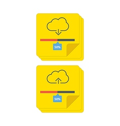 cloud download and upload 6 vector image