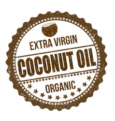 Coconut oil sign or stamp vector
