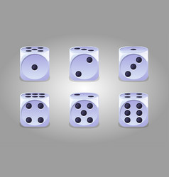 collection isolated game white dice vector image