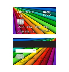Colored credit card isolated on white background vector image