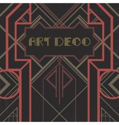 Dark artdeco abstract geometric background vector