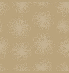 earth tone subtle flower texture seamless vector image