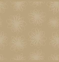Earth tone subtle flower texture seamless vector