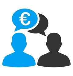 Euro Chat Icon vector image