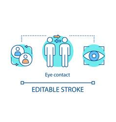 Eye contact concept icon vector
