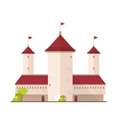 Fairytale castle fortress or citadel with towers vector