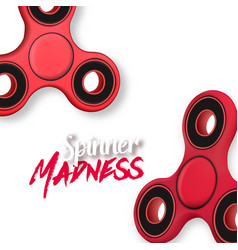 fidget spinner toy vector image
