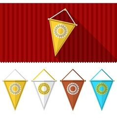 Flat of triangular pennants vector image