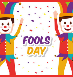 fools day greeting card vector image
