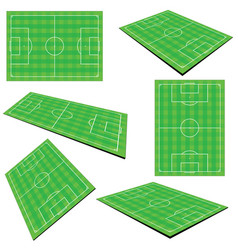 Football field set vector