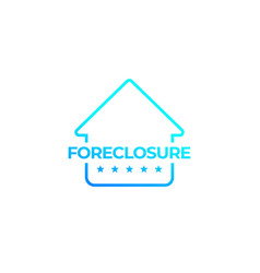 foreclosure with house icon vector image