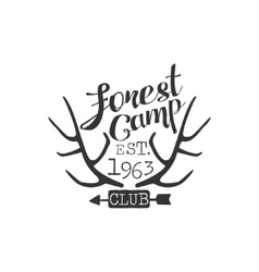 Forest Camp Vintage Emblem vector image