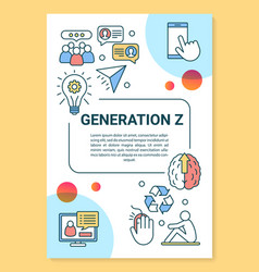 Generation z poster template layout modern age vector