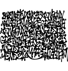 Graffiti tags background in black over white vector