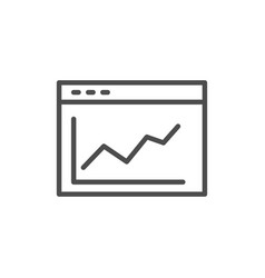 graph statistic icon vector image