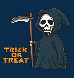 grim reaper halloween card invitation design vector image