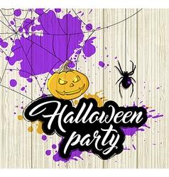 Halloween background with orange pumpkin vector image