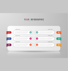 Infographic concept design with 6 options vector