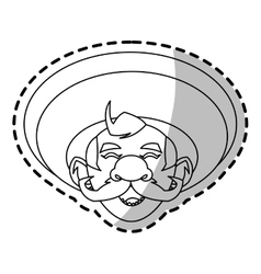 Isolated mexican man design vector