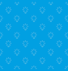 lamp pattern seamless blue vector image