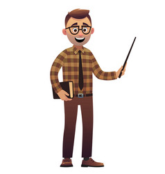 male teacher artoon character standing isolated on vector image