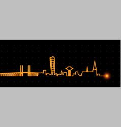 malmo light streak skyline vector image