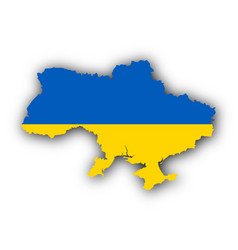 map and flag of ukraine vector image vector image