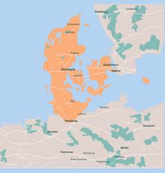 Map denmark isolated eps 10 vector