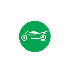 motor cycle logo template vector image