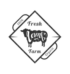 organic fresh farm meat premium quality retro vector image