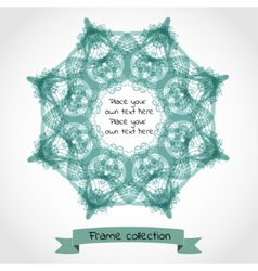 Ornamental retro frame vector image