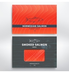Packaging for fish vector image