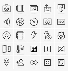 photo site icons vector image