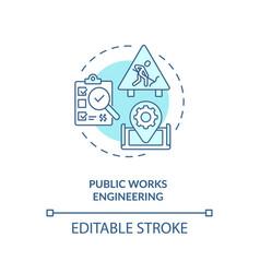 Public works engineering concept icon vector
