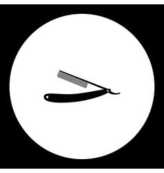 razor barber work tool simple black icon eps10 vector image