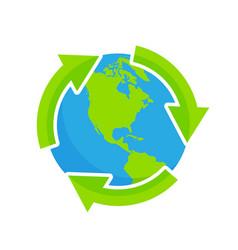 recycling natural environment vector image