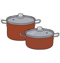 Red pots vector