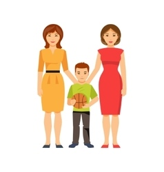 Same-sex parents vector image