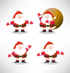 santa set vector image