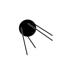 Satellite sign icon flat vector