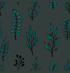 Seamless pattern with doodle style floral vector