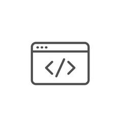 seo script line icon web programming sign vector image