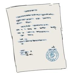 Sheet of document vector
