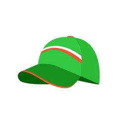 Sketch of green cap colorful vector
