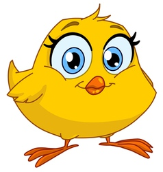 smiling chick vector image