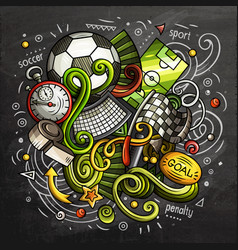 soccer cartoon doodle vector image