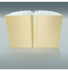 Standing open book with pages vector