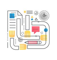 teamwork concept in trendy line vector image