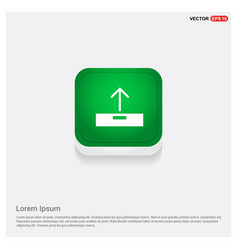 upload icon green web button vector image